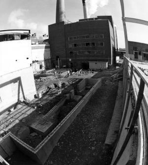 Fondations de la rampe au niveau du sous-sol