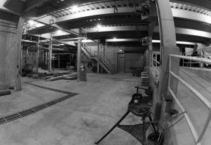 Vue du sous-sol de l'atelier de remise en pâte
