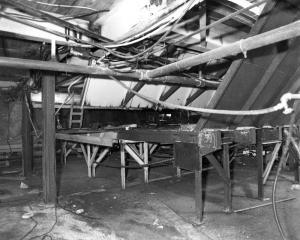 L'intérieur de l'atelier de sciage Fraser de Kedgwick