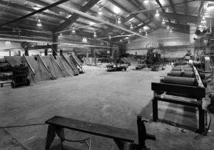 L'intérieur de l'usine de sciage Fraser de Kedgwick