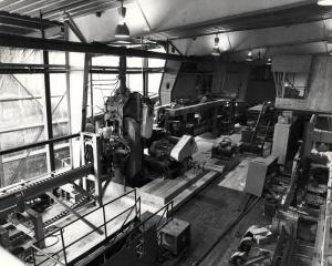 L'intérieur de l'atelier de rabotage Fraser de Kedgwick