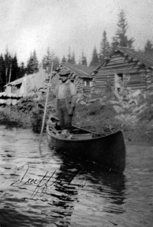 M. Trefflé Bourgoin au Deuxième Lac