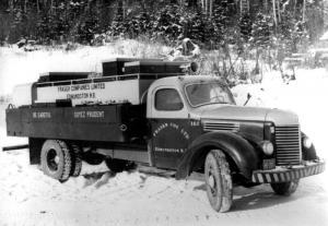 Camion d'incendie en hiver