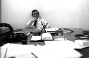 M. Keith Bowser dans son bureau de l'usine Fraser d'Edmundston