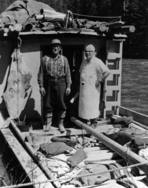 La cuisine sur  un bateau