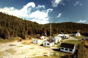 Camp de recherche en exploitation forestière en septembre 1969