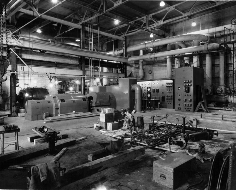 turbog n ratrice dans la centrale thermique de l 39 usine fraser d 39 edmundston. Black Bedroom Furniture Sets. Home Design Ideas