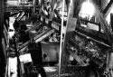 Presse à écorcer dans l'usine Fraser d'Edmundston
