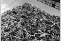 Pile de billes dans la cour de l'usine Fraser d'Edmundston