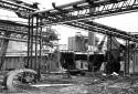 Démolition de l'atelier de préparation du bois à l'usine Fraser d'Edmundston