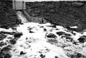 Arrivée des eaux usées dans le premier bassin d'épuration d'Iroquois
