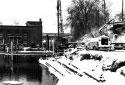 Construction du pont pour le pipeline