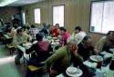 Salle à manger dans un camp
