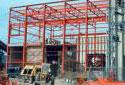 Construction de l'atelier de préparation du bois à l'usine Fraser d'Edmundston