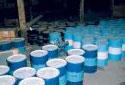 Entrepôsage de produit chimique à l'usine Fraser d'Edmundston