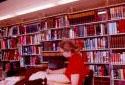 Bibliothèque dans le bureau principal de l'usine Fraser d'Edmundston