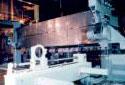 L'intérieur de la blanchisserie à l'usine Fraser d'Edmundston