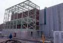Construction extérieure de l'usine Fraser au Maine
