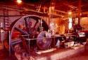 L'usine de sciage dans l'ancienne scierie Fraser de Plaster Rock