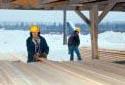 Entrepôt de triage à la scierie  Fraser de Kedgwick